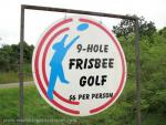 9 Hole Frisbee Golf sign