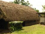 Long house with thatched roof